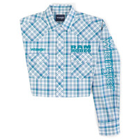 Men's Wrangler Dodge RAM Rodeo Series Blue Plaid Western Shirt