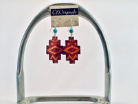 CEOriginals Leather Southwest Earrings