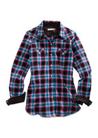 Women's Tin Haul Black, Red and Blue Western Shirt