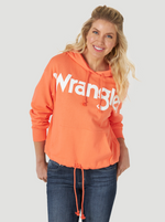 Women's Wrangler Orange Logo Hooded Sweatshirt