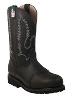 Men's Boulet Black CSA Western Boots