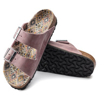 Birkenstock Ethno Lavendar Blush Leather Sandal