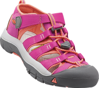 KEEN Big Kids' Newport H2 Very Berry/Fusion Coral Sandals