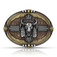 Montana Silversmiths Tri-Colour Southwestern Buffalo Attitude Buckle