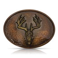 Montana Silversmiths Vintage Cascade Bronze Buck Skull Buckle