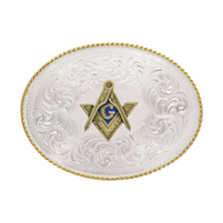Montana Silversmiths Masonic Emblem Buckle