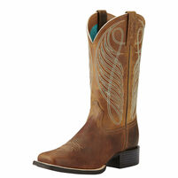 Women's Ariat Round Up Wide Square Toe Western Boot