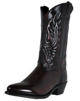 Abilene Men's Black Cherry Narrow Round Toe Western Boot