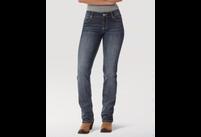 Women's Wrangler Straight Leg Jean in MS Wash