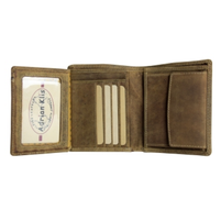 Adrian Klis Bifold Leather Change Wallet
