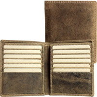Adrian Klis Brown Bison Leather Wallet