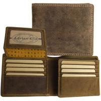 Adrian Klis Trifold Bison Leather Wallet