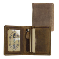 Adrian Klis Leather Wallet with zipper inside
