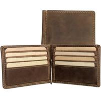 Adrian Klis Money Clip Leather Wallet