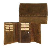 Adrian Klis Leather Wallet Double Zipper and Coin Pocket