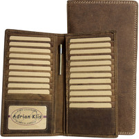 Adrian Klis Leather Wallet with Pen Holder
