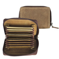 Adrian Klis Leather Accordian Card Wallet