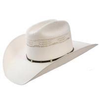 Stetson White Horse Straw Western Hat