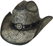 Bullhide Star Central Black Straw Hat