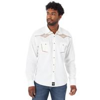 Men's Rock 47 By Wrangler Long Sleeve Western Shirt White