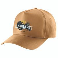 Carhartt Canvas Outdoor Graphic Ball Cap Brown