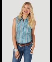 Wrangler Retro Women's Striped Sleevless Western Shirt