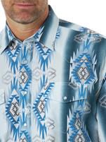 Men's Wrangler Blue Checotah Snap Western Shirt