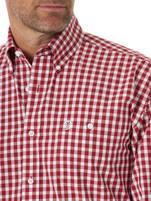 Men's Wrangler Red and White Plaid