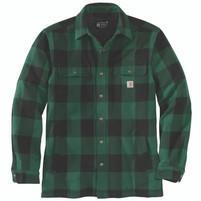 Men'a Carhartt Heavyweight Flannel Sherpa Lined Jacket Shirt North Woods
