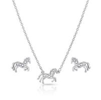 "Montana Silversmiths ""All The Pretty Horses"" Jewelry Set"