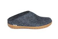Glerups Denim Wool Rubber Sole Slippers