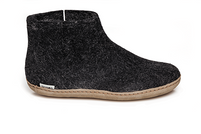Glerups Charcoal Wool Leather Sole Boot