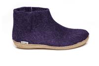 Glerups Purple Wool Leather Sole Boot