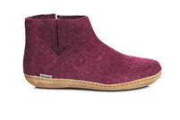 Glerups Cranberry Wool Leather Sole
