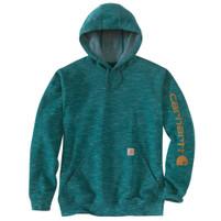 Men's Carhartt Midweight Hooded Logo Sweatshirt Tidal Space Dye