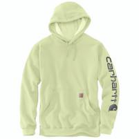 Men's Carhartt Midweight Hooded Logo Sweatshirt Pastel Lime