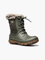 Women's Bogs Arcata Tonal Camo Dark Green Winter Boots
