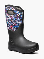 Women Bogs Ne-Classic Wide Calf Real Flower Farm Boots