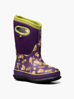 Kids Bogs Classic Sloths Purple Winter Boot