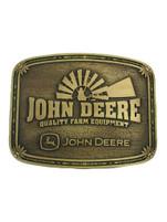 Montana Silversmiths John Deere Windmill Brass Attitude Buckle