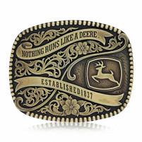 Montana Silversmiths John Deere Est.1837 Attitude Buckle