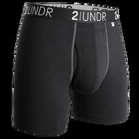 Men's 2UNDR Swing Shift Black Boxer Brief