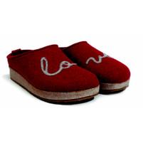 Haflinger Grizzly Lovely Red Slipper