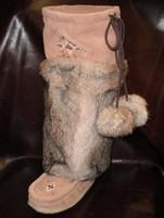 "Laurentian Chief Women's Rabbit Fur 16"" Mocka Mukluks"