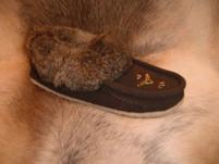 Laurentian Chief Rabbit Fur with Gum Sole Moccasin