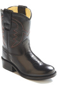 Old West Black Kid's Cowboy Boot (Toddler's sz 4-8)