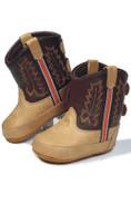 Old West Brown Kid's Cowboy Boots (Infant's sz 0-4)