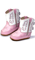 Old West Pink Kid's Cowboy Boots (Infant's sz 0-4)