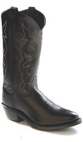Men's Old West Black Medium Toe Cowboy Boot