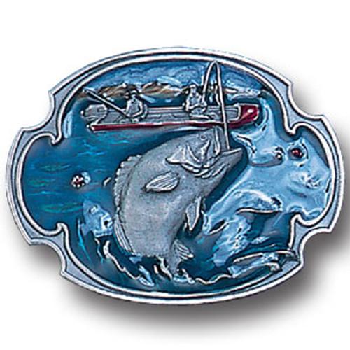 Bass Fishing Enamel Belt Buckle